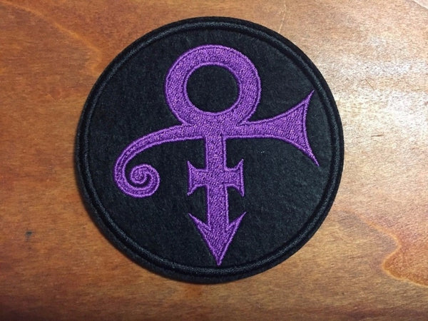 prince love symbol patch embroidered