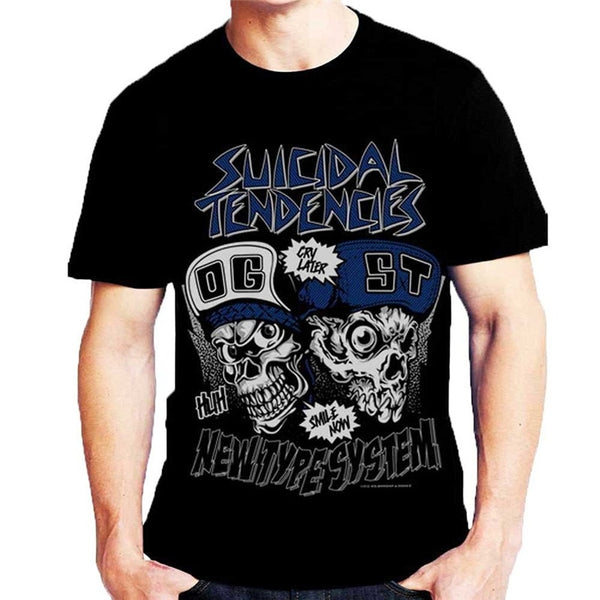 Funny Graphic Tees Short O-Neck Best Friend Suicidal Tendencies  Shirts For Men - Kool Cat Records T Shirts N More
