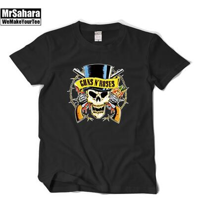 The new classic Rock band guns Guns and roses With short sleeves T-shirt Guns N 'Roses - Kool Cat Records T Shirts N More