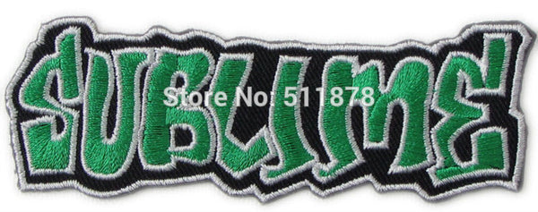 SUBLIME Rock Punk retro applique iron on patch Metalcore heavy metal music Electronic band sew on Biker Vest badge