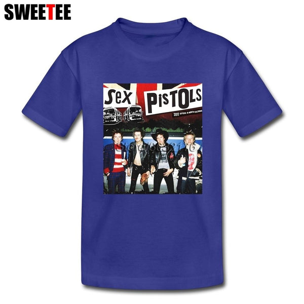 Music Band Sex Pistols t Shirt Son 100% Cotton boys girls Short Sleeve T Shirts For Kids Exercise 4T-8T T-Shirt - Kool Cat Records T Shirts N More