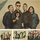 The Arctic Monkeys Nostalgia Retro Rock Band Music Kraft Paper Poster Bar Cafe Living Room Dining room Wall Decorative Paintings - Kool Cat Records T Shirts N More