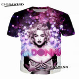 Latest arrival t shirt men/women sexy Singer Madonna 3D printing t-shirts casual hip hop style tshirt streetwear summer tops - Kool Cat Records T Shirts N More