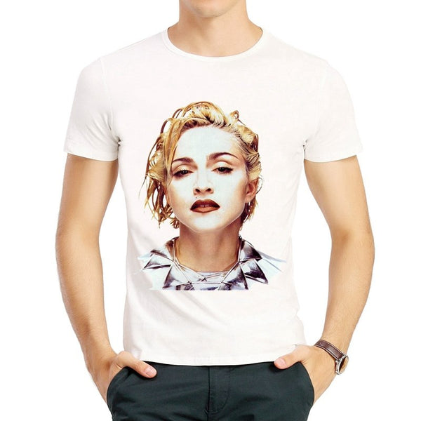 Madonna T Shirt Fashion Short Sleeve White Color Lovely Madonna T Shirt Tee Top tshirt Casual Unisex Madonna T-shirt - Kool Cat Records T Shirts N More
