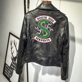 Riverdale Southside Serpents Female Coats Print Punk Leather Harley motorcycle zipper Jackets For Women Hip-Hop Style - Kool Cat Records T Shirts N More