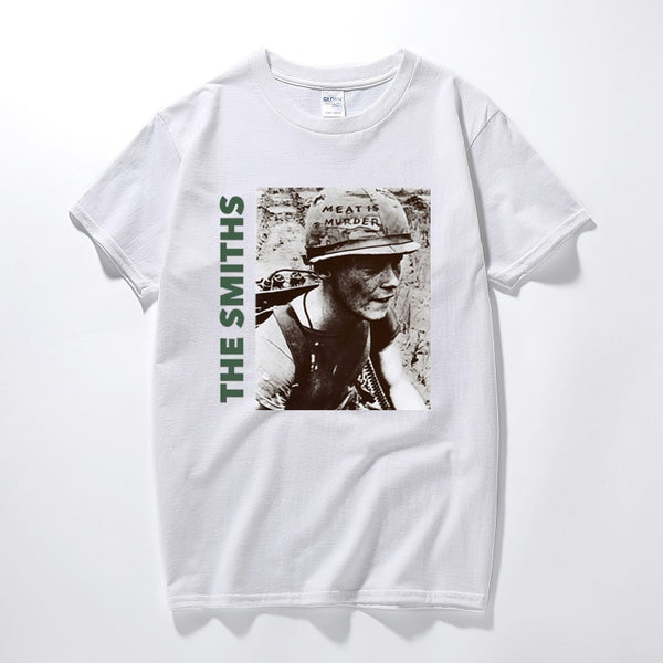 The Smiths T Shirt Top English Rock Band Meat Is Murder 1985 Morrissey Marr Cotton Short-sleeved O Neck T-shirts Men T Shirt