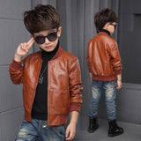 Kids light but warm  jacket Faux leather stylish Clothing