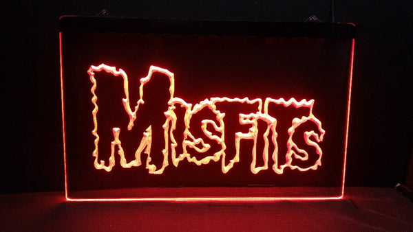 Misfits logo beer bar pub 3d signs LED Neon Light Sign  home decor - Kool Cat Records T Shirts N More