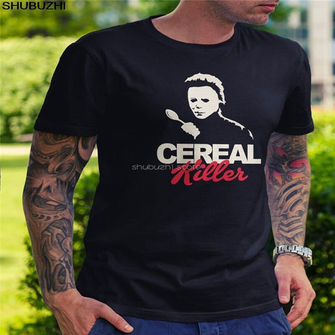Cereal Killer  man woman T-Shirt -Halloween Michael Myers Horror/koolcatrecords T-Shirrt - Kool Cat Records T Shirts N More