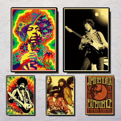 Rock Star Jimi Hendrix  poster  great room  decor  for music lovers