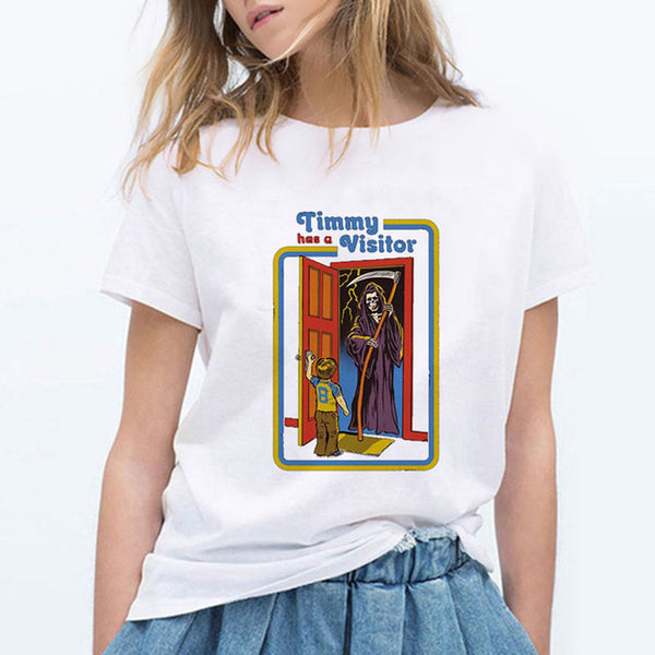 Timmy Has a Visitor Vintage Female T-Shirt - Kool Cat Records T Shirts N More