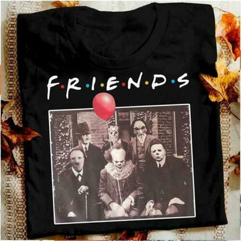 Horror Friends Pennywise Michael Myers T-Shirt - Kool Cat Records T Shirts N More
