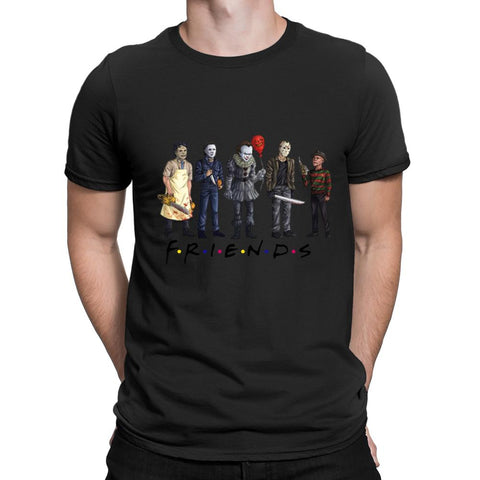 Horror Friends Pennywise Michael Myers Jason T-Shirt - Kool Cat Records T Shirts N More