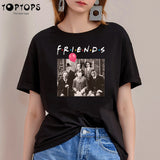 Friends Pennywise Michael Myers Jason Voorhees T-Shirt - Kool Cat Records T Shirts N More