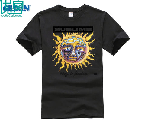New Sublime 40 Oz. To Freedom Rock Band White unisex  T shirt - Kool Cat Records T Shirts N More
