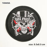 Guns N' Roses Guns N Roses Guns and Roses Music Rock Iron On Embroidered  Patches For Clothing skull - Kool Cat Records T Shirts N More