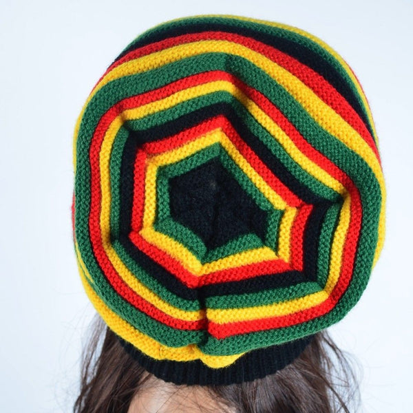 Free Shipping  2017 Winter Hip Hop Bob Marley Jamaican Rasta  Reggae Multi-colour Striped Beanie Hats For Mens Women