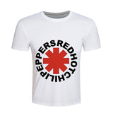 Red Hot Chili Peppers T shirt Men Hip hop T-shirt Skate White Rock Summer Loose Brand Clothing Fashion Casual Tee ZOOTOP BEAR