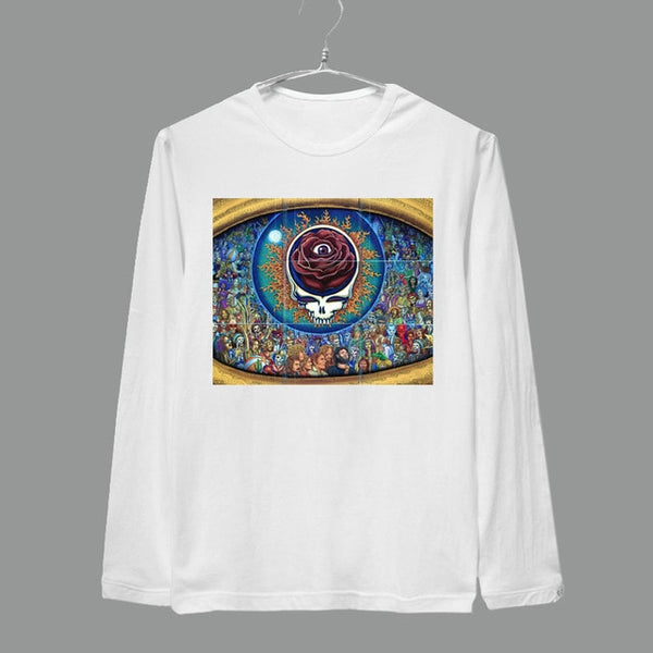 The grateful dead huge eye sunflower full long sleeves brand new tee shirt