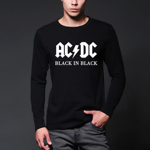 AC/DC band rock  Long Sleeve T Shirt Men fashion - Kool Cat Records T Shirts N More