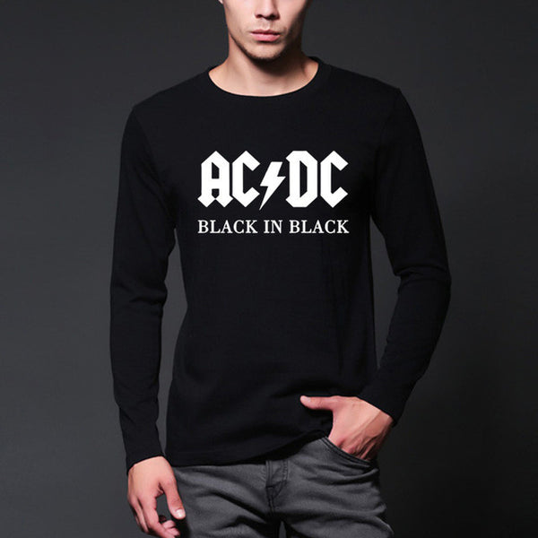 AC/DC band rock  Long Sleeve T Shirt Men fashion