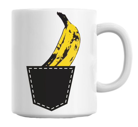 Banana In The Pocket Mug Andy wharhool - Kool Cat Records T Shirts N More