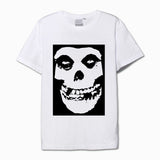 The misfits black and white skull mask printing vintage t shirt - Kool Cat Records T Shirts N More