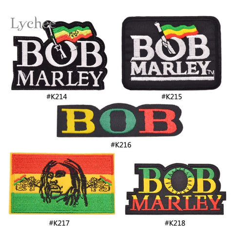 Lychee 1 Piece Reggae Star BOB MARLEY Embroidered Iron On Patch New Arrival Patches