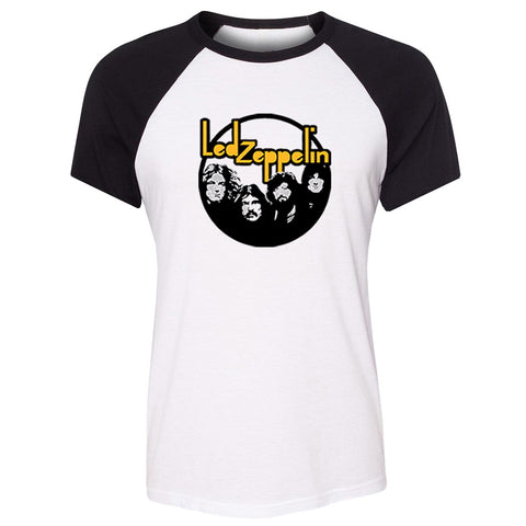 LED ZEPPELIN Rock N Roll Band Punk Raglan T Shirt Women 30 SECONDS TO MARS Girl's Short Tshirt WILD CAT PAW Summer Tee Tops Lady