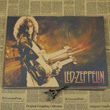 Rock 'n' roll poster Led zeppelin spacecraft band European and American music retro nostalgia core decoration posters - Kool Cat Records T Shirts N More