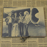 Rock 'n' roll poster Led zeppelin spacecraft band European and American music retro nostalgia core decoration posters