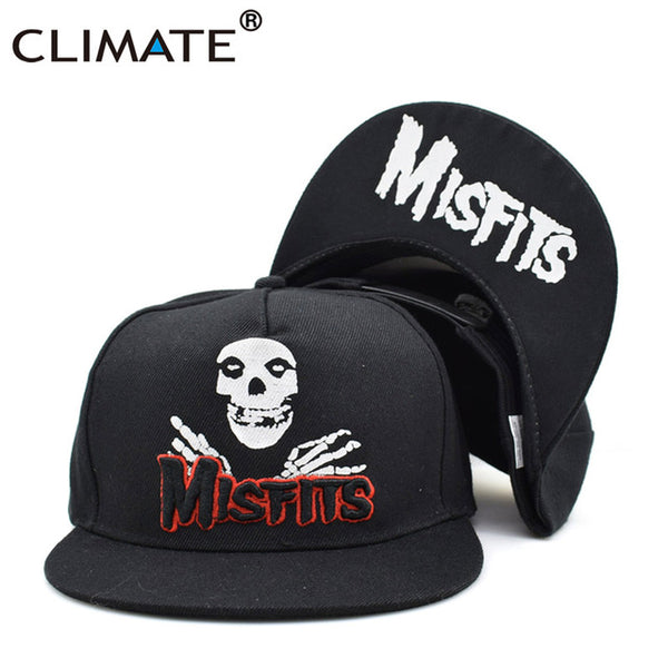 The Misfits Band Snapback Caps The Misfits Punk Metal Rock Cool Skulls Black - Kool Cat Records T Shirts N More