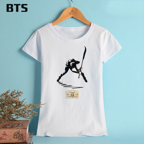 The Clash Summer T-shirt Women Brand Tees Tops Short Sleeve Punk Music Band Funny Summer Tshirts Women Cotton Girl Tees