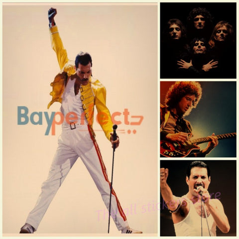 Freddie Mercury Queen Rock Band group posters