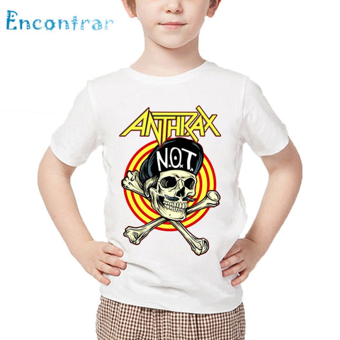 Size 3T-9T,Kids Rock Metal Anthrax Music Band  T shirt