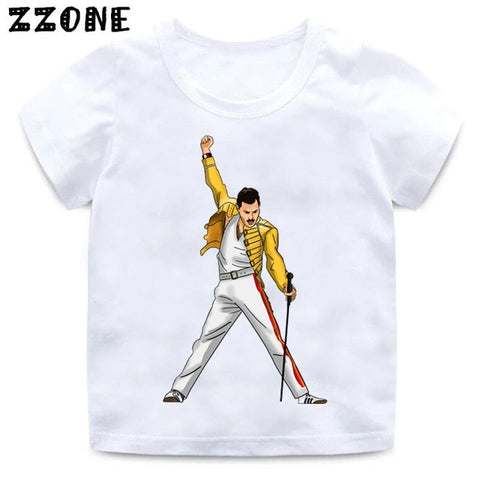 FREDDIE MERCURY Rock Band Queen Print T-Shirt - Kool Cat Records T Shirts N More