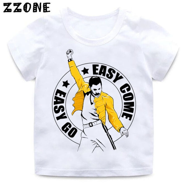 kids size  FREDDIE MERCURY Rock Band Queen Print T shirt Kids