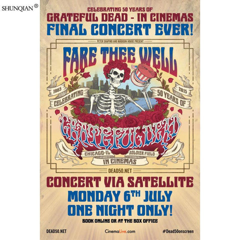 Grateful Dead Poster Silk Fabric Print Poster