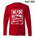 AC/ DC men's long sleeve T-shirts Rock And Roll  100% cotton casual crossfit hip hop brand man t shirt