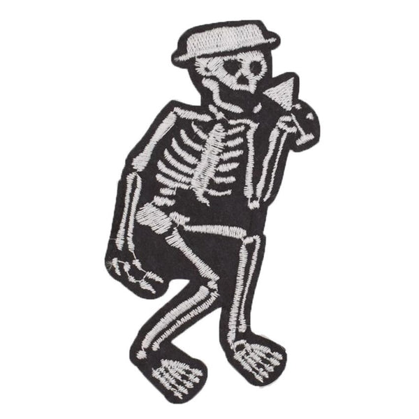Social Distortion Skeleton Band Iron On/sew On Patch Tshirt Transfer Motif Applique Rock Punk Badge
