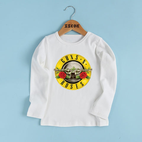 Rock Band Gun N Roses kids T shirt Boys and Girls  Kids Long Sleeve