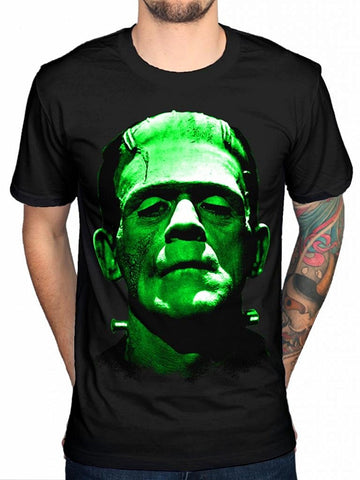 Official  Frankenstein green Head unisex T Shirt available in the store - Kool Cat Records T Shirts N More