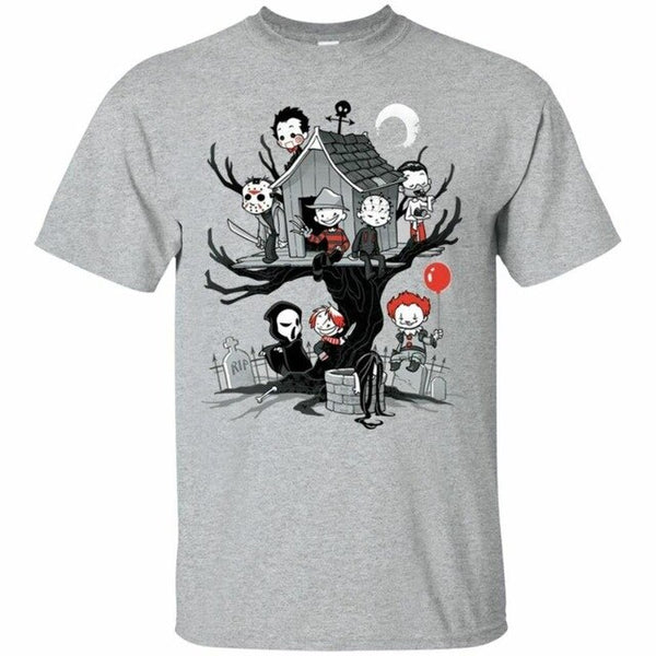 Horror Park Michael Myers Jason Freddy It Chucky T-Shirt - Kool Cat Records T Shirts N More