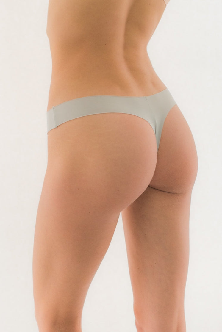 Seamless Thong Grey