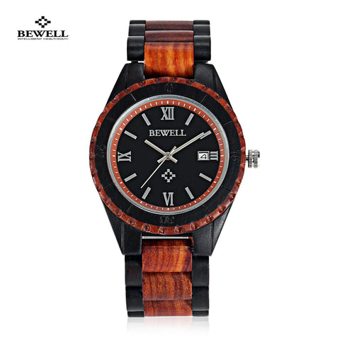 Fashion Men Watch Luxury Famous Brand Bewell Quartz Watch Full Wood Wristwatch Relogio Masculino Casual Clock Men Best Gift