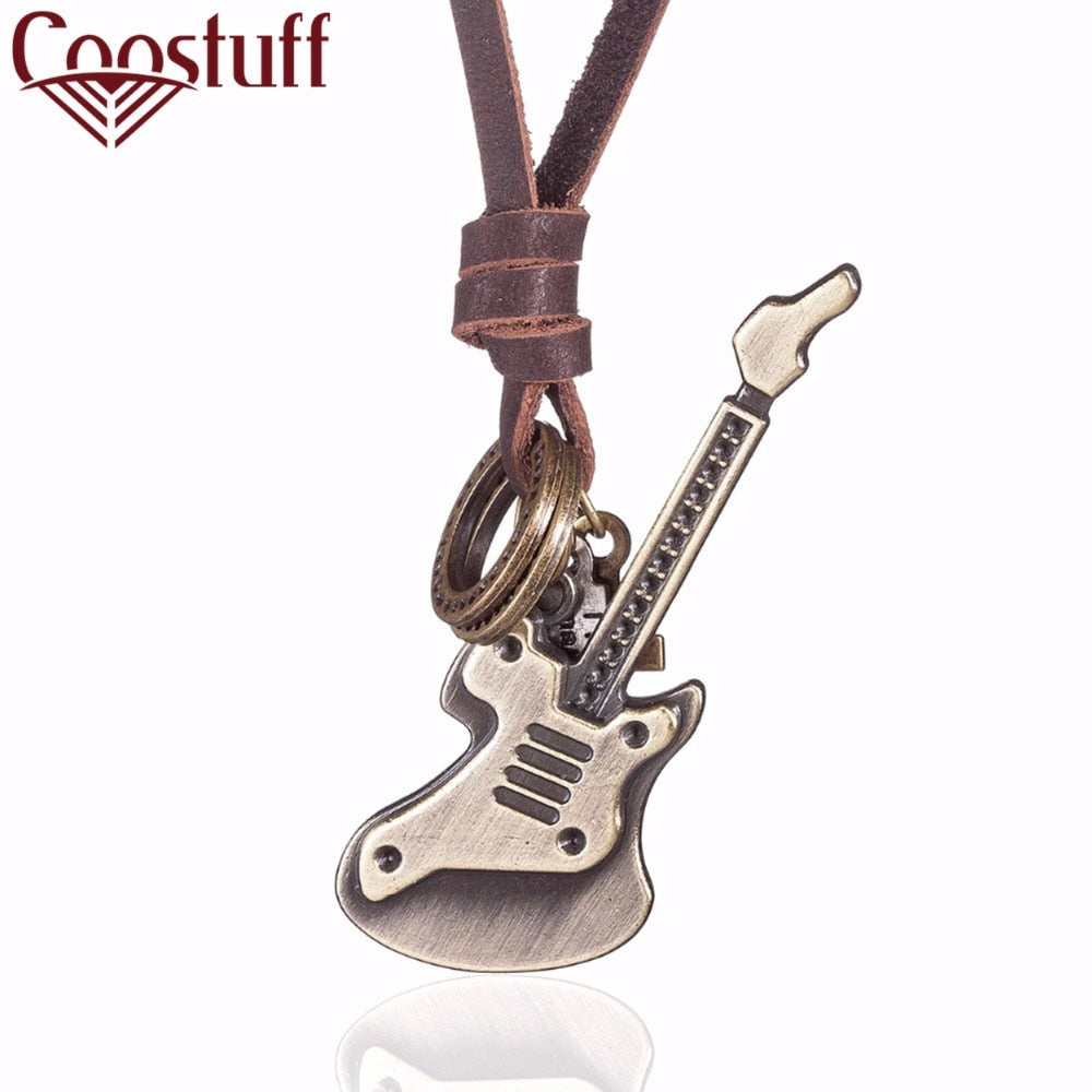Vintage relogio Jewelry Guitar necklaces & pendants Genuine Leather