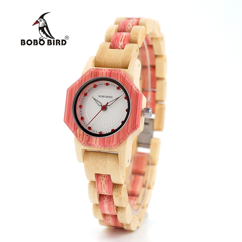BOBO BIRD Brand Women Bamboo Watches Special Design Watch for Ladies Wood Band Female Quartz Watch relogio feminino DROP SHIPING