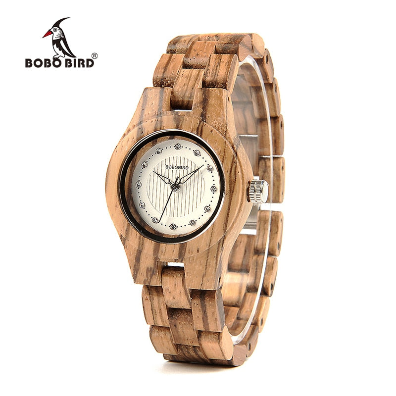 BOBO BIRD V-O29 Top Brand Luxury Women Unique Watch Bamboo Wooden Fashion Quartz Watches