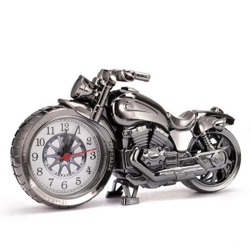 Creative Motorcycle Motorbike Pattern Alarm Clock Desk Clock Creative Home Birthday Gift Cool Clock