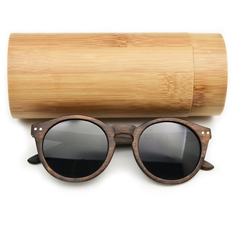 2018 Women Men Cateye Wood Sunglasses Vintage Round Sunglasses Polarized Lens Free Shipping